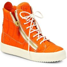 2d084f70a381f3 Giuseppe Zanotti Croc-Print Leather High-Top Sneakers ( 300) ❤ liked on