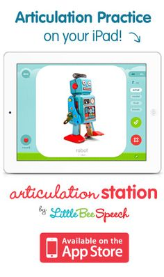 Robot application for phoneme isolation and spelling is a great idea! Also works via the telepractice as well.