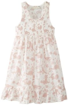 Stella McCartney Girls 2-6X Ella Dino Print Dress, Multi, 6   - Click image twice for more info - See a larger selection of play wear dresses at http://girlsdressgallery.com/product-category/play-wear-dresses/- kids, toddler, kids dresses, little girls, dress, casual dress, little girls fashion, gift ideas