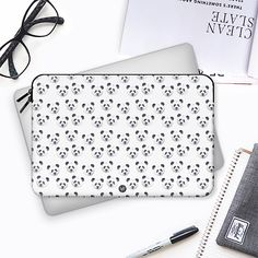 Panda Party Macbook Case by Wonder Forest