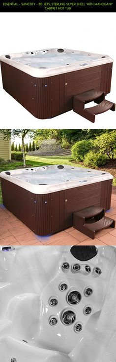 Essential - Sanctity - 80 Jets, Sterling Silver Shell With Mahogany Cabinet Hot Tub #racing #and #jacuzzi #products #hot #tubs #parts #tech #drone #shopping #gadgets #camera #play #and #spas #kit #technology #fpv #plans #plug