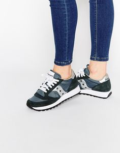 Image 1 of Saucony Jazz Original Navy & Silver Sneakers