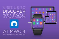 EXO UI is at MWC14 Ui Framework, Game Changer, Exo, Explore, Projects, Log Projects, Exploring