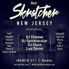 """Your boy #djhearnoevil The Silent Assassin will be rocking on the set with other dope DJs at Redds spot in New Jersey on March 31st!! NO COVER!  So come thru and check our skills on those wheels! #hardofhearingdj #turntablist #djlife #scratching #battleseason #turntableterrors #turntablism #lifeofadj #thisiswhyidj #supportthedj #realdj #djworld #blessed #entertainment  #Repost @dj_fnf with @repostapp  Skratcher New Jersey  Proudly presents its first Skratcher """"The Dope List"""" sessions and a…"""