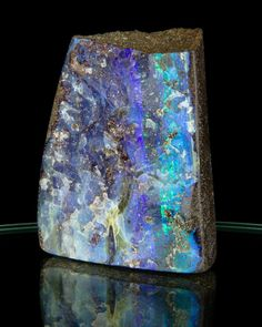 mineralia:  Boulder Opal from Australia by Treasure Mountain Mining