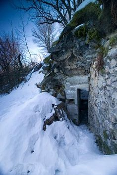 German bunker at Vosges Abandoned Buildings, Abandoned Places, Ligne Siegfried, War Image, Earth Homes, Strasbourg, Bunker, Shelters, Military History