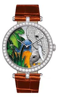 Van Cleef & Arpels Lady Arpels African landscape Limited Watch
