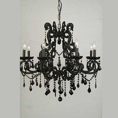 I could totally do this to my moms old school chandelier!! :-) teal would be beautiful too ;)