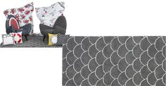 Rodnik, un tapis, écailles grises | made.com