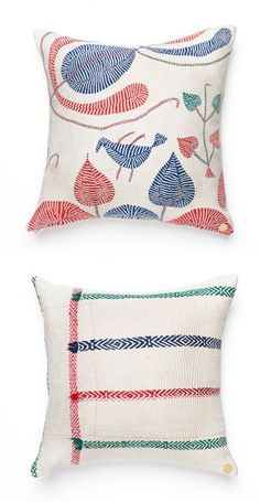 Gorgeous one of a kind artisan pillows.