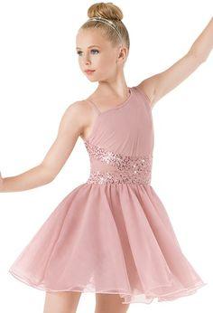 Weissman™   Asymmetrical Soft Tulle Dress