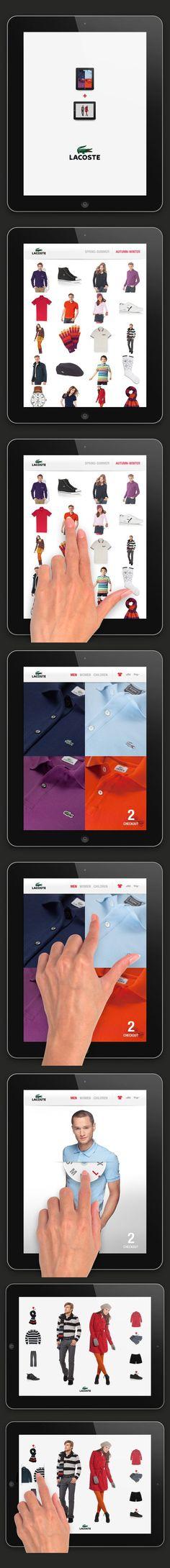 Lacoste iPad app | Designer: Pierrick Calvez Studio Ltd.: