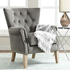 Teal Accent Chairs In Living Room Eclectic Dining Chairs, Living Room Chairs, Modern Chairs, Modern Armchair, Living Rooms, Grey Accent Chair, Grey Chair, Upholstered Chairs, Chair Cushions
