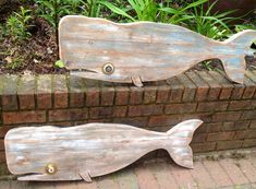 Whale Sign Driftwood Colour Beach House Weathered Wood Wall Art by CastawaysHall - Ready to Ship