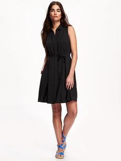 Sleeveless Trapeze Dress for Women Product Image