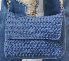 Modern Blue Envelop Bag to Crochet. ………………………………………………. More Great Looks Like This