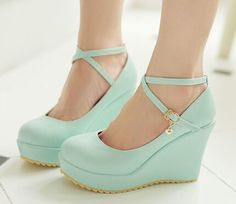 2015 new women's shoes cute platform shoes wedges round toe shallow mouth plus size 42 43 high heels party shoes(China (Mainland))