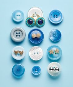 Use Buttons as Earring Holders- Great For Travel !!
