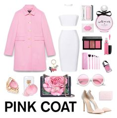 """Hey,girl:Pretty pink coats"" by shangalairina ❤ liked on Polyvore featuring Gucci, Gianvito Rossi, Dolce&Gabbana, ZeroUV, Ashlyn'd, Stephen Webster, Kate Spade, MAC Cosmetics, Christian Dior and Bobbi Brown Cosmetics"