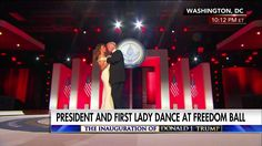 The Trump family and Vice President Mike Pence joined President Donald J. Trump on stage at the Freedom Ball to celebrate the inauguration.