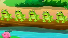 FIVE LITTLE SPECKLED FROGS Five little speckled frogs Sat on a speckled log Eating some most delicious bugs. One jumped into the pool Where it was nice and c. Math Songs, Preschool Songs, Kids Songs, Frogs Preschool, Preschool Classroom, Kindergarten, 5 Speckled Frogs, Frog Nursery, Rhymes For Toddlers