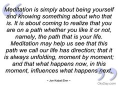 Jon Kabat-Zinn quote that editor Emily Schvaneveldt uses on page January 17 in JOURNEY TO AUTHENTICITY.