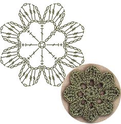 No.12 Rounded Blossom Lace Crochet Motifs / 플라워 모티브도안