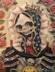 Mezclando Tradiciones es una iniciativa de expresión mexicana. Santa  Muerte 990cee496fa