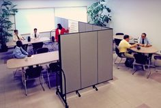 Set up an instant conference or training room using a Screenflex temporary room divider wall | Screenflex Portable Partitions