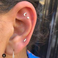 Ear cuffs no piercing Ear cuff earrings Ear cuff non pierced - Custom Jewelry Ideas Piercings Lindos, Cute Ear Piercings, Multiple Ear Piercings, Body Piercings, Tongue Piercings, Flat Piercing, Double Cartilage Piercing, Piercing Tattoo, Dermal Piercing