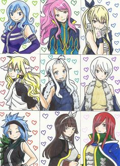 Fairy Tail Girls (Valentine's Day) by arttoinfinity.deviantart.com on @DeviantArt