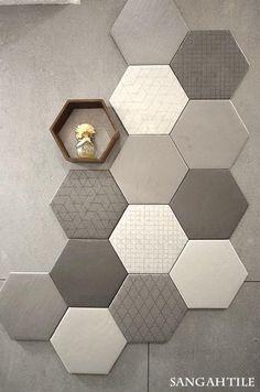 Wall Panels & Home Decor Bathroom Interior, Interior Design Living Room, Acoustic Wall Panels, Room Decor, Wall Decor, Tile Design, Office Interiors, House Design, Tiling