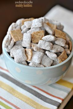 Snickerdoodle Muddy Buddies. These are so good you won't be able to stop snacking!!
