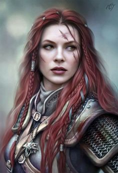 The battle-scarred and fearless Lady Knight Juliette Van Helsing of Monrique.