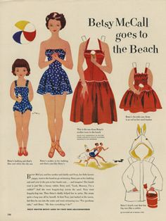 """will take you to a 300 dpi version of the paper doll pages, 3000 x 4000 pixels. At actual size on a large format printer, they will print at 10 inches wide by 13 1/3 inches tall, which is the size of the original magazine pages. If you choose """"Fit to Page"""" on letter-sized paper, they will have an effective output resolution of 364 dpi."""