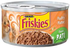 Sale $0.45 - Purina Friskies Classic Pate Poultry Platter Cat Food, 5.5 Ounce Can.