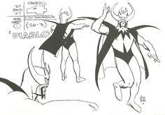 Diablo: Alex Toth designs for the 1967 FF cartoon series