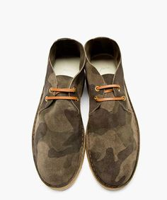 N.D.C. Made By Hand Green Camo Pere 13 Otterproof Mimetico Desert Boots