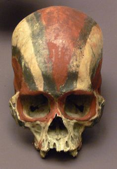 Skull without lower jar; Solomon Islands; South Seas Department, Ethnological Museum, Berlin, Germany (Kohts collection, 1904).