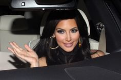 Kim Kardashian and friend take a cruise down Sunset Boulevard.  The reality TV star, who is currently planning her big day with fiance Kris Humphries, seemed to be enjoying her girls night out.