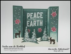 Stampin' Sacha | Stampin' Up! | Autumn/Winter Catalogue 2017 | Carols of Christmas | Card Front Builder Thinlits | Embossing Paste | Dazzling Diamonds Glimmer Paper | Delightful Daisy DSP | Brigde Card  | Christmas Card