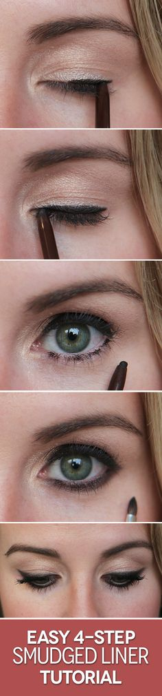 The easiest smudged liner look you'll ever try.
