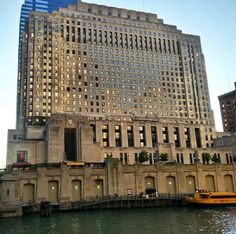 Old Chicago  North Western Railroad office building along the Chicago River (Chicago Pin of the Day, 5/24/2015).