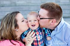 Happiest baby I know!  |  Family session | Milwaukee WI | Milwaukee Family photographer | Nakasato Photography | Discovery World | Family session outfit ideas