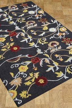 Alliyah Collection Wool Rug - Multi - 5ft. x 8ft.