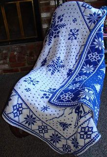 """Scenes of Winter - From the book """"Herrschner's Knit Afghans 2010 National Afghan Contest Winners."""""""
