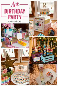 The perfect art party - cute birthday party decor and treat ideas.