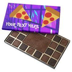 Pretty Pizza 45 Piece Box Of Chocolates - kitchen gifts diy ideas decor special unique individual customized