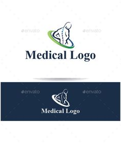Buy Medical Logo by cioncabogdan on GraphicRiver. Silhouette logo for use physiotherapy, kinesiology and medical industry editable Font used -Times new roman Colo. Medicine Logo, Clinic Logo, Medical Office Design, Medical Symbols, Vector Logo Design, Chiropractic Care, Health Logo, Business Logo Design, Human Icon