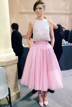 Yumi backstage at Georges Hobeika Haute Couture...